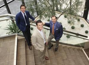 Partner Bryon Ward, Executive Vice President  Stephen Thorp, and CEO Scott Burnham of Burnham USA.