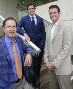 CEO Scott Burnham, partner Bryon Ward, and Executive Vice President  Stephen Thorp of Burnham USA.
