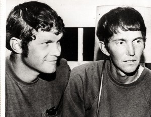 Dave and John Kunst before starting the walk in 1970.