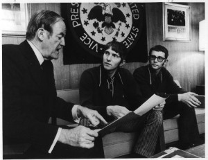 The Kunst brothers, Dave and John, with Senator Hubert Humphrey