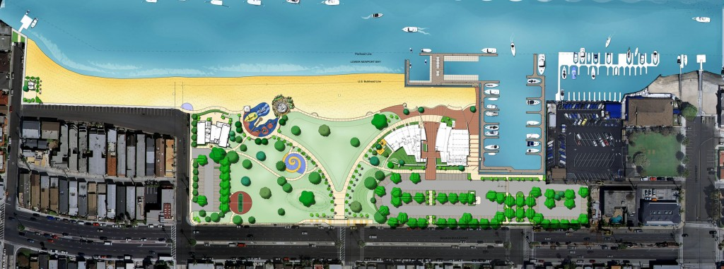 An artist rendering of Marina Park — Photo courtesy city of Newport Beach