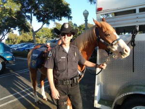 A member of NBPD mounted division was also on hand at the event.