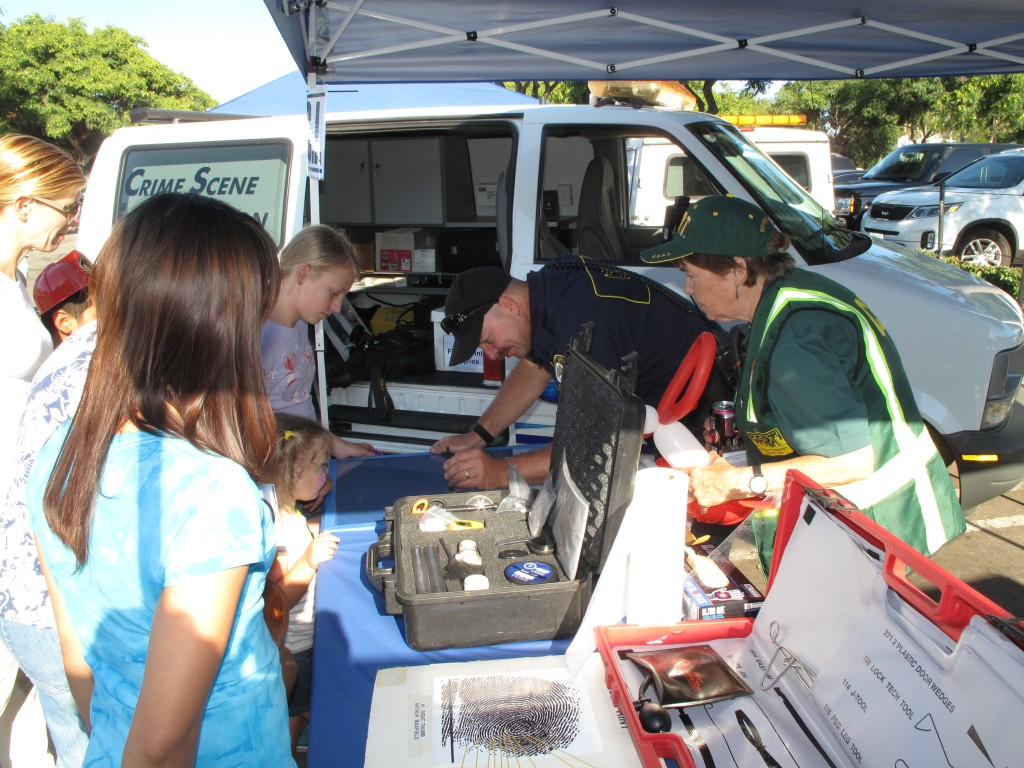 Crime Scene Investigation booth at the event.
