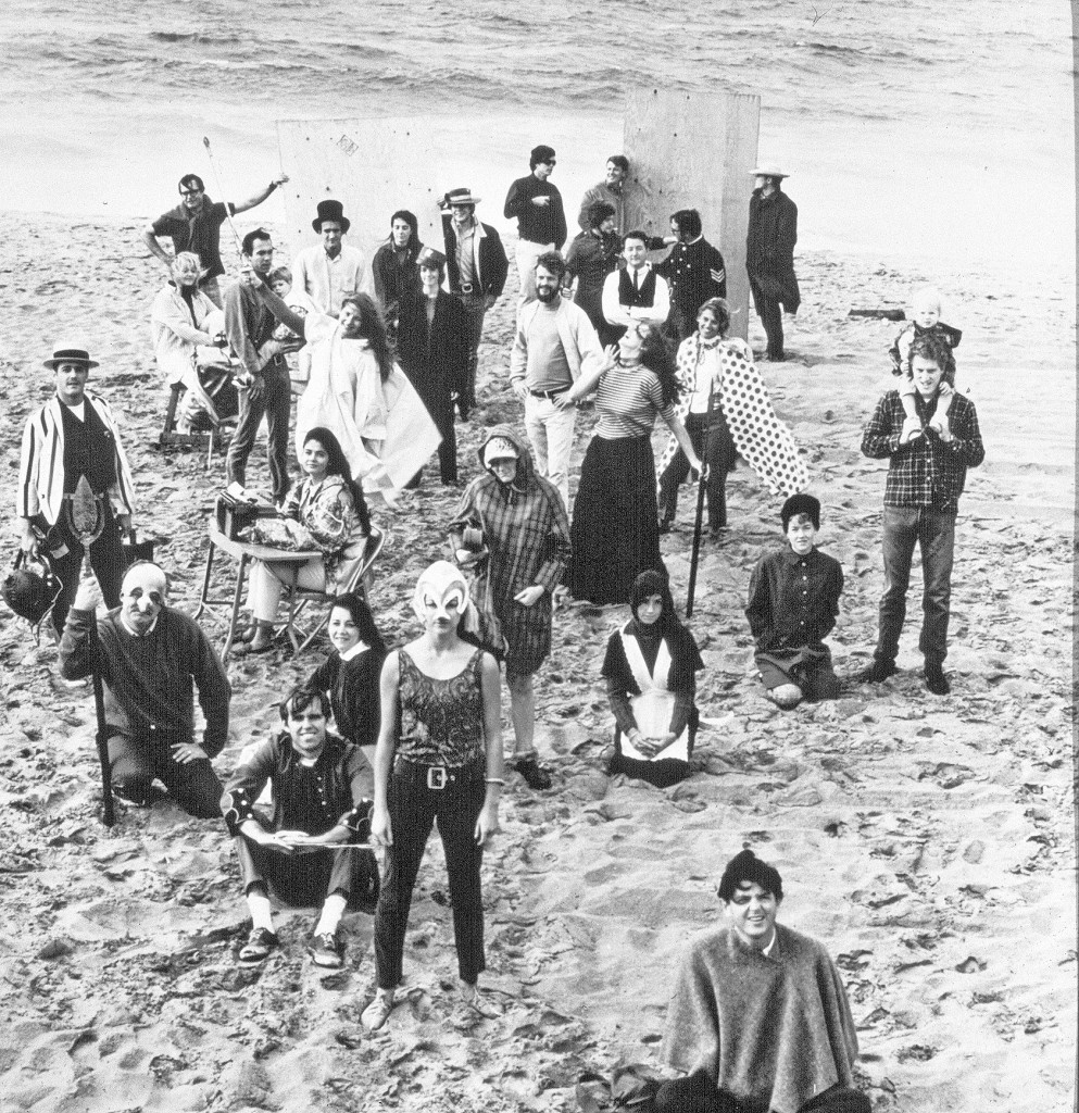 SCR company members pose on the beach in Newport in 1965.
