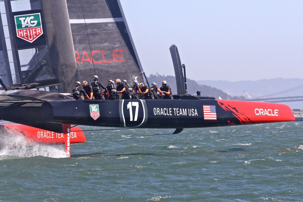 Oracle Team USA during a practice run earlier this week.