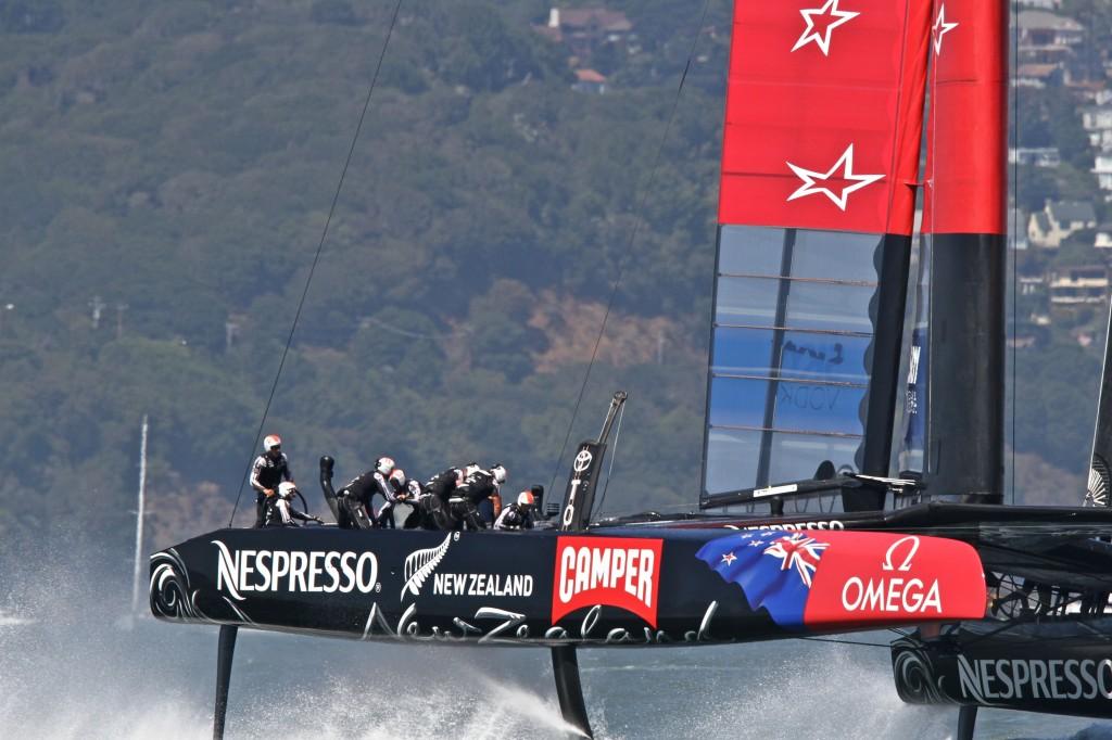 Team New Zealand crew in action