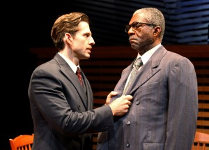 "Tyler Pierce and Charlie Robinson in South Coast Repertory's 2013 production of ""Death of a Salesman"" by Arthur Miller. Photo by Debora Robinson/SCR."