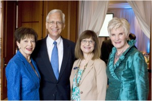 Co-chair Darrellyn Melilli, Ernie and Sandra allen, co-chair Mary Beth Molnar