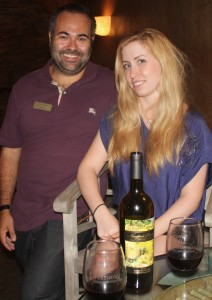 Justin Myers of Newport Beach Winery and Off the Menu columnist Catherine Del Casale