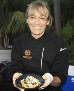 Chef Deborah Schneider of SOL Cocina with her award-winning taco