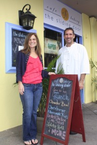 Natalie Sarle and Kevin Cahalan are the owners of the new Sliding Door restaurant in Balboa Village.