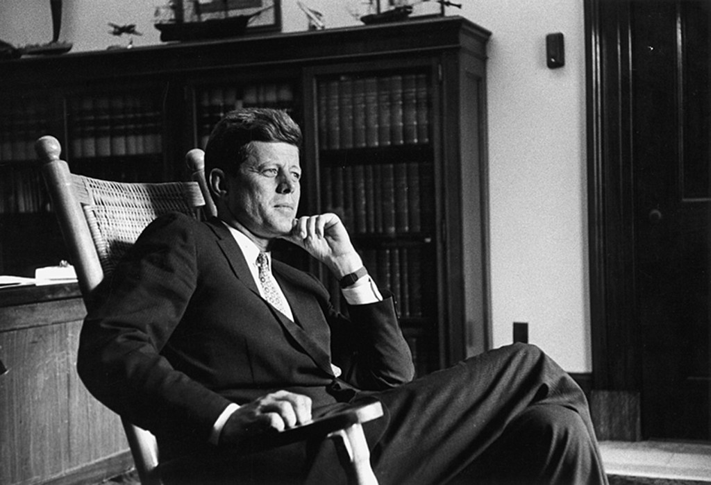 August 1959  Senator John F. Kennedy in his Senate Office.  — Photograph by John Vachon for LOOK Magazine, in the LOOK Magazine Collection, Library of Congress. John F. Kennedy Presidential Library and Museum, Boston