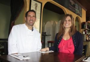 Chef Kevin Cahalan and Natalie Sarle
