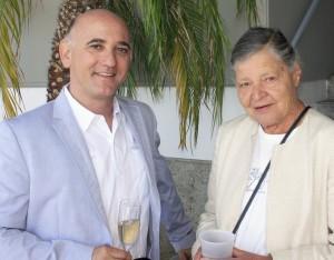 Chamber of Commerce President Steve Rosansky and Jean Watt