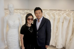 Casablanca Bridal owners Gloria and Kevin Wu. Photo by Christopher Trela.