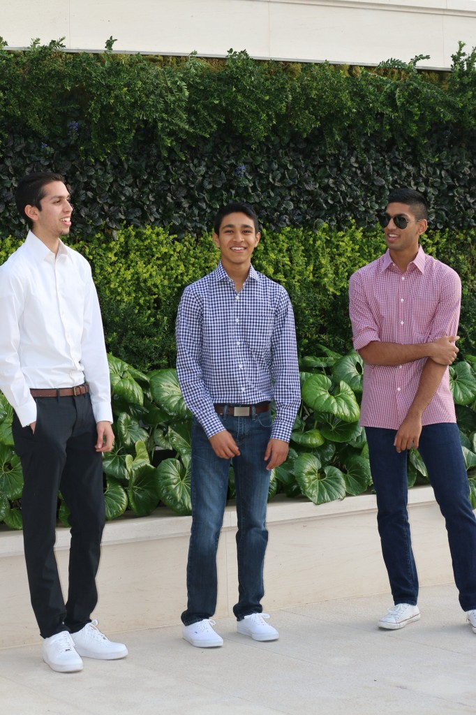 (left to right) Kunal Patel, Darshan Patel and Krishan Tarsadia have started Tempus Apparel, a premium clothing line based out of Newport Beach.