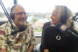 Tom Johnson and Lynn Selich on the air