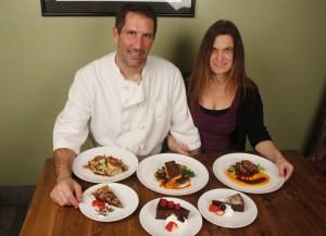 Sliding Door owner-chef Kevin Cahalan and co-owner Natalie Sarle