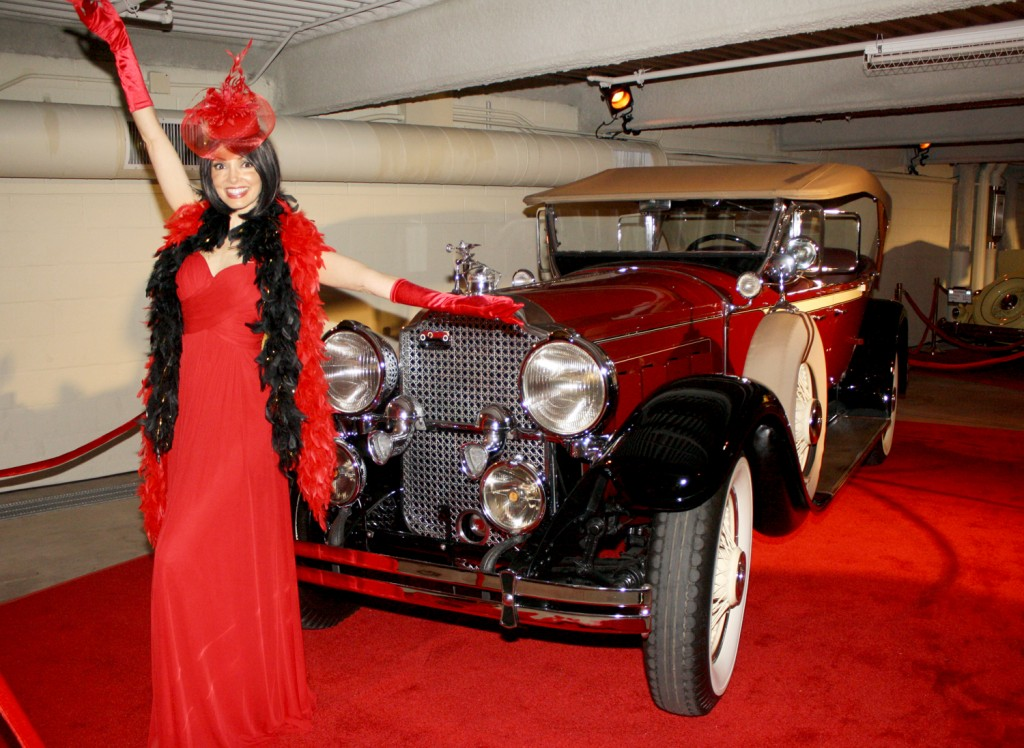 Roaring 20s flapper girls and vintage autos were all part of the festivities at the F&M Bank opening
