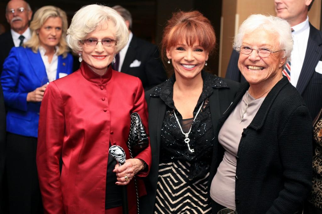 (left to right) SUNshine Award winner, retired state Senator, Marian Bergeson, Orange County Register columnist, Barbara Venezia and former mayor Evelyn Hart.