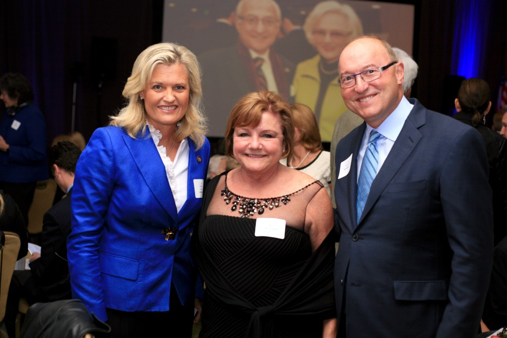 Councilwoman Leslie Daigle (left) with Bill Shopoff and his wife, Cindy.