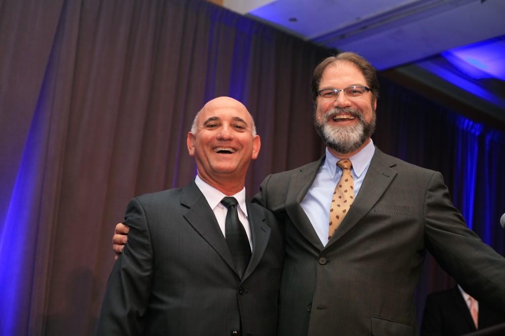 Newport Beach Chamber of Commerce CEO and President Steve Rosansky (left) and Orange County Supervisor John Moorlach.