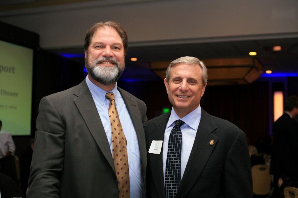 Orange County Supervisor John Moorlach (left) and city councilman Mike Henn.
