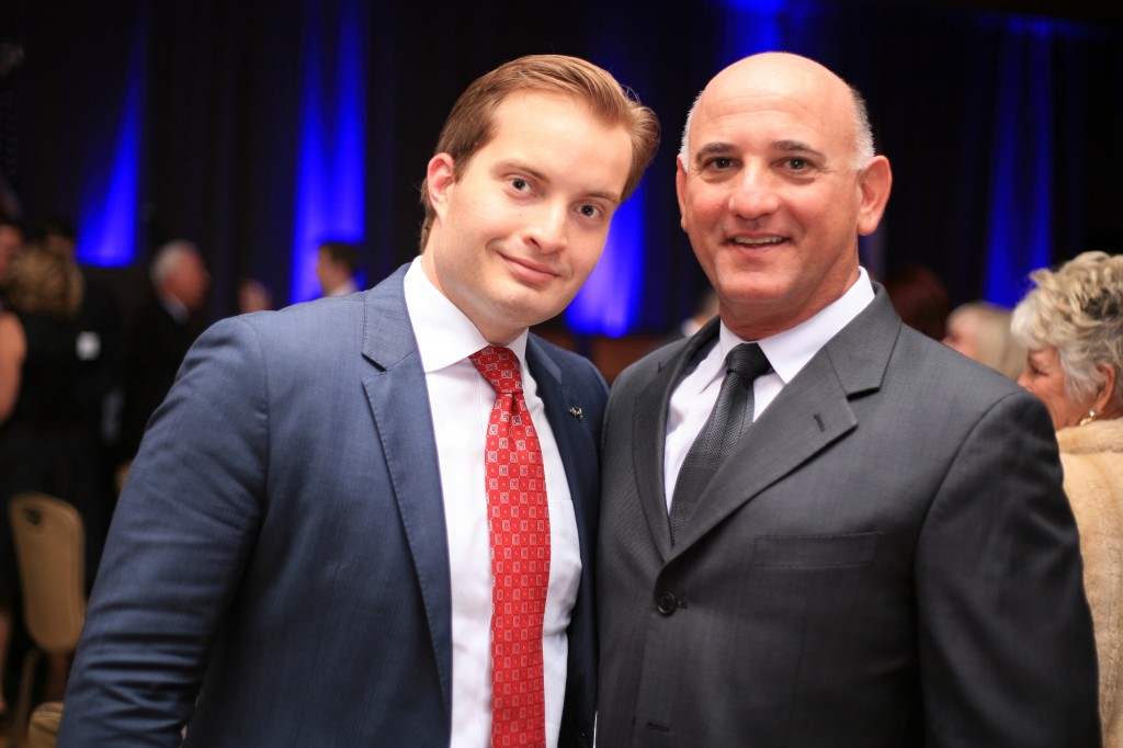 City council candidate Joe Stapleton (left) and Newport Beach Chamber of Commerce CEO and President Steve Rosansky.