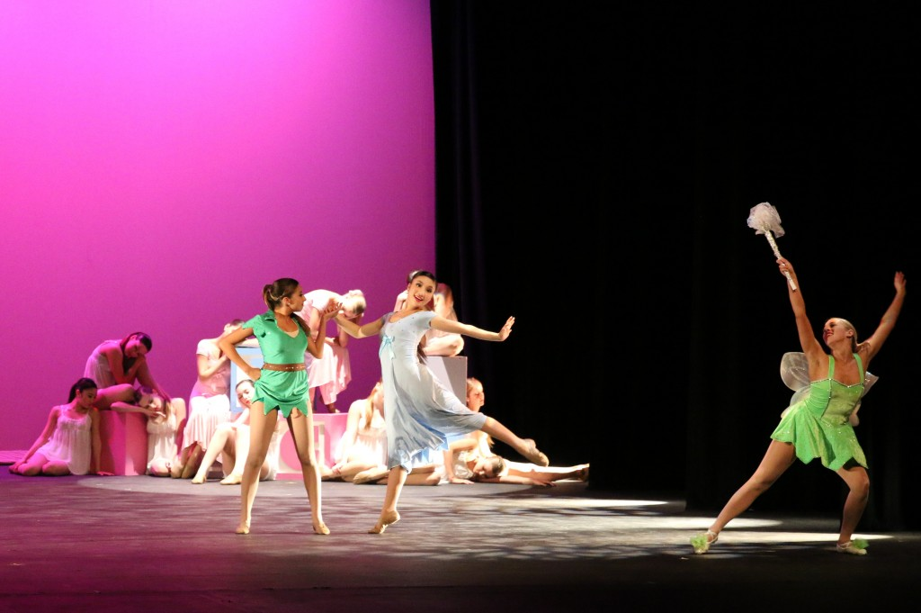 """CdM student dancers perform a sneak peek of the opening number for """"Off to Neverland… Dancing in the Stars,"""" during the University High School Dance Invitational in January. — Photo courtesy Orchesis Dance Company"""