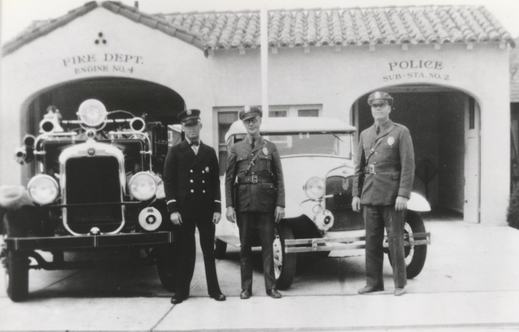 A historical photo of an NBFD station