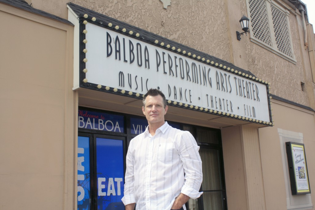 Steve Beazley in front of the Balboa Theater