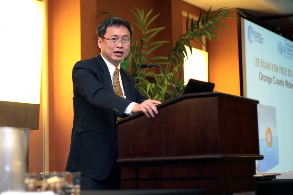 Harry Seah speaks at the conference.
