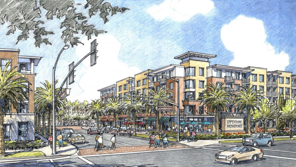Artists rendering of Uptown Newport Village