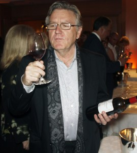 Chef Pascal Olhats savors a French Bordeaux
