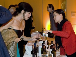 Sampling wine at the Pacific Coast Wine Festival