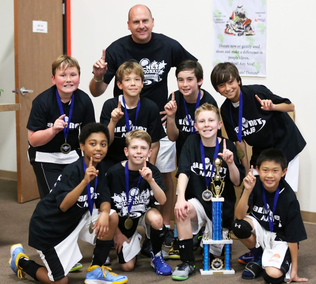 The Fryer Basketball Academy fifth-grade team after winning the So-Cal Championship for the National Junior Basketball All-Net league. — Photo Courtesy Kimberly Valentine-Poska