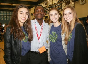 (from left to right) Niki Monjab, Daniel Okabe, Megan Ames, Emily Ames