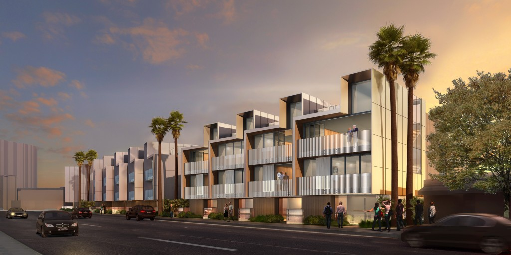 An artist's rendering of the Lido Townhouses. — Photo courtesy Shubin + Donaldson Architects