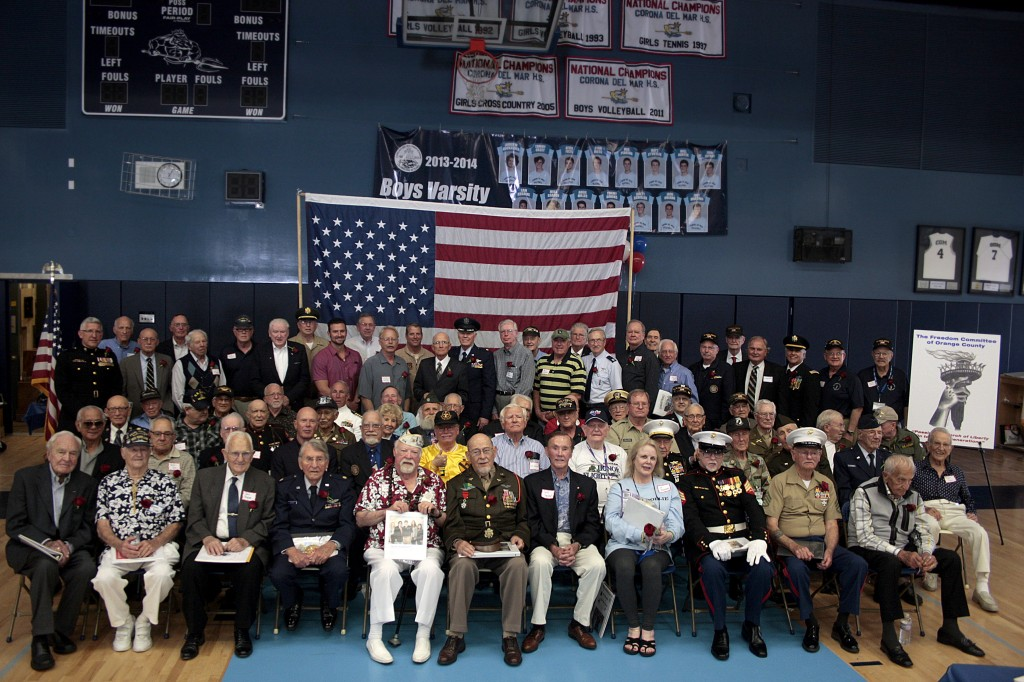 The veterans pose for a group photo. — Photo by Arthur Pascal