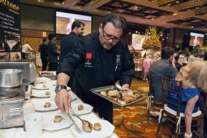 Franco Barone of Il Barone in Newport Beach prepares one of his dishes
