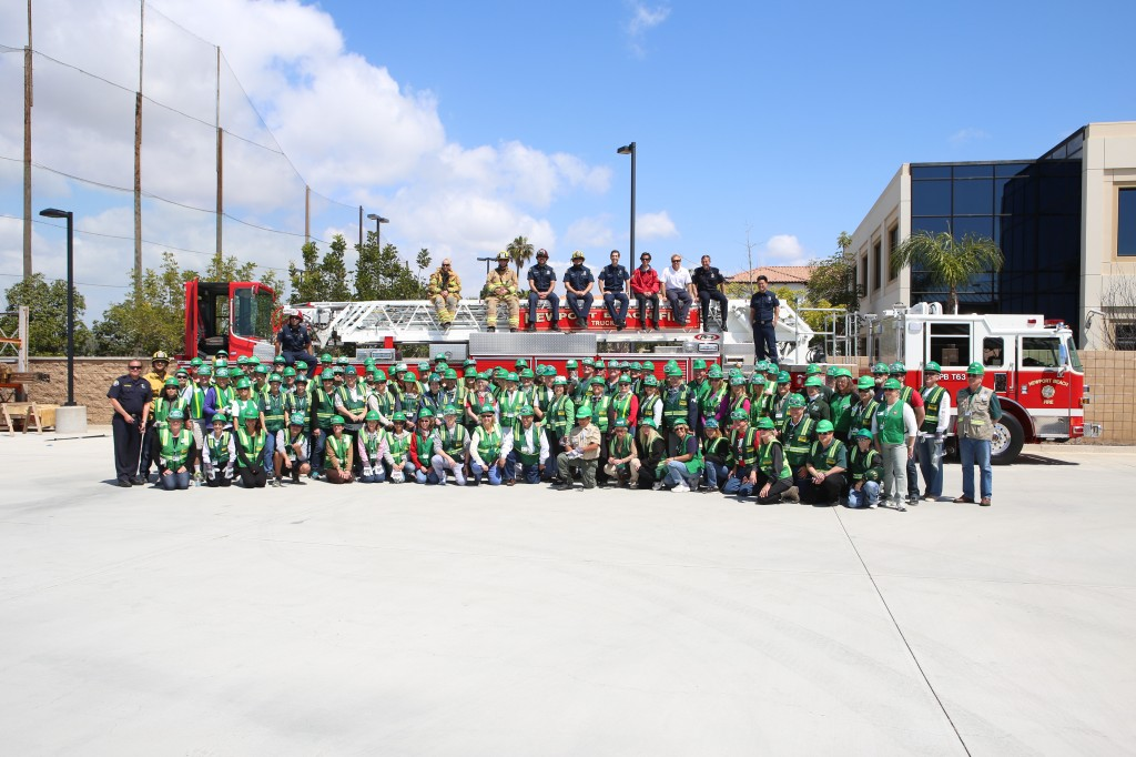 Participants and NBFD staff pose for a group photo on Saturday.
