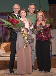 Director Michael Arabian; Leslie Caron, David Engel, Artistic Director Ann Wareham