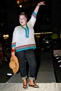 Survivor spokes model Dianne Callahan-Pavia wearing Tommy Bahama at the fashion show last year. — Photos courtesy EXPO 4 Life