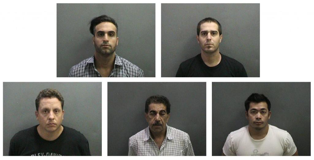 (left to right) Top: Maziar Bordbar and Nathaniel Ferrer. Bottom: Roberto Duran, Masood Taghizadeh and Joel Valdellon. — Photos courtesy Newport Beach Police Department