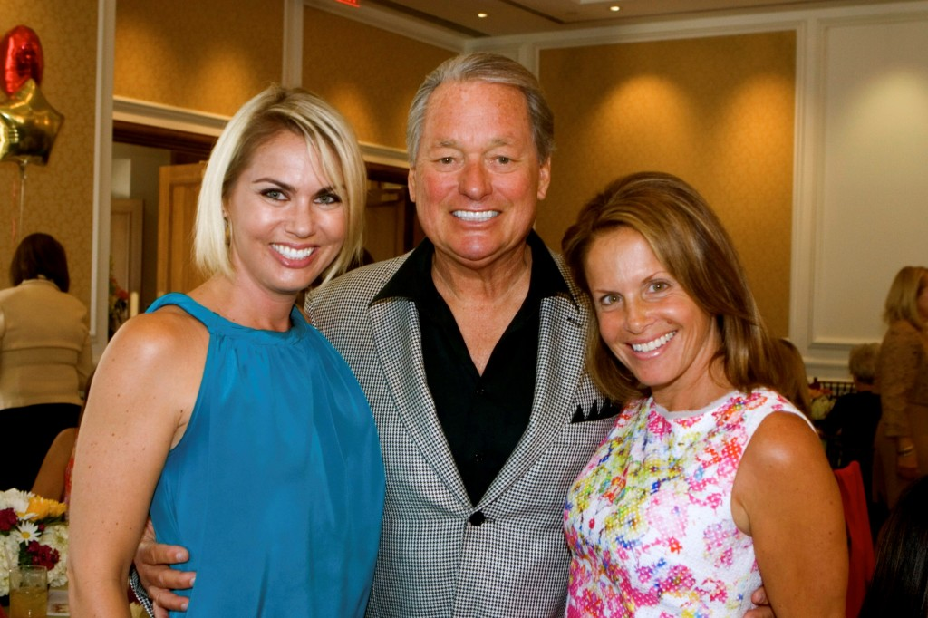 Michelle St. Amour, Emcee Jim Roberts, Guild President Laurie Moroch