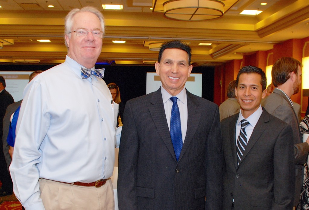Rusty Kennedy, CEO of OC Human Relations, Al Mijares, Ph.D., Orange County Superintendent of Schools, and Sergio Contreras, senior manager of education at Orange County United Way.