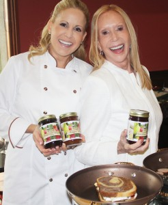 "Celebrity Chef Jamie Gwen, shown here with Lana Sills, executive producer of the ""Food & Wine with Chef Jamie Gwen"" radio show."