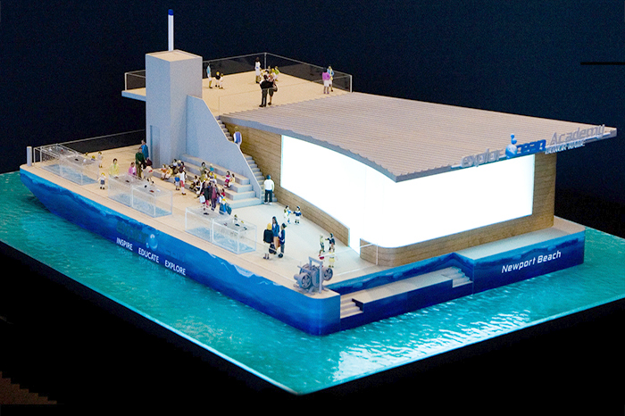 Artist rendering or new facility — Courtesy ExplorOcean ©