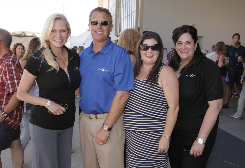 Celebrity Cruises' Regional Marketing Manager Cynthia Rose, Celebrity Cruises' Director of Sales Scott Clifton, Legal Aid's Jennifer Miramontes and Celebrity Cruises' Team Manager LA/Palm Springs Marilys Ward. — All photos by Todd Williamson ©