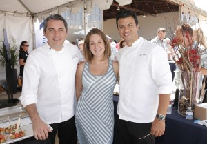 Corporate Executive Chef Rufino Rengifo, Sommelier Chanelle Duarte and Executive Chef John Suley.